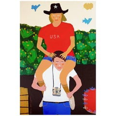 'The Tourists' Portrait Painting by Alan Fears Pop Art