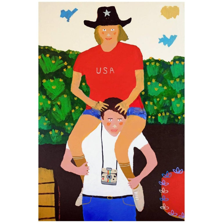 'The Tourists' Portrait Painting by Alan Fears Pop Art For Sale