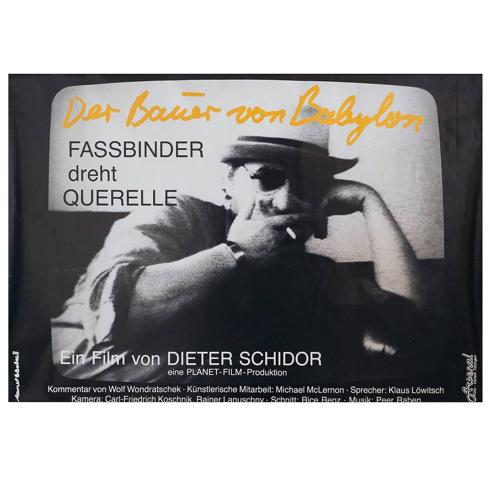 "Poster the Wizard of Babylon R.W. Fassbinder Shoots ""Querelle"", 1982"