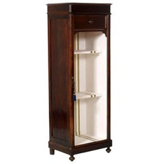 Mid 19th Century Bookcase Display Cabinet in Walnut Restored Polished to Wax