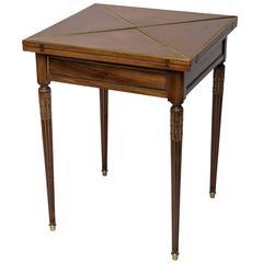 Louis XVI Style Envelope Game Table