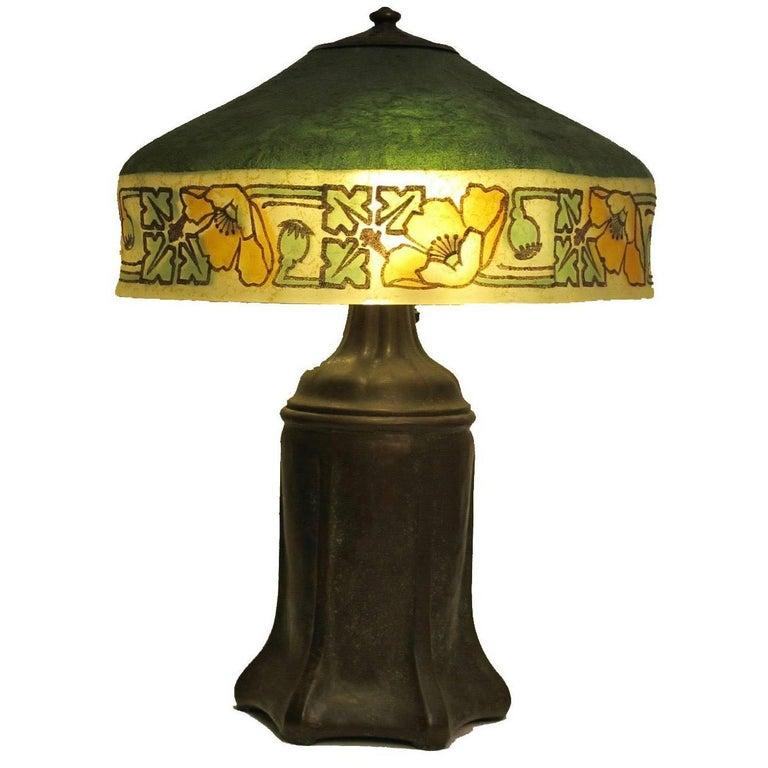 arts and crafts handel table lamp at 1stdibs. Black Bedroom Furniture Sets. Home Design Ideas