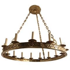 Gilt Bronze Neoclassic Chandelier