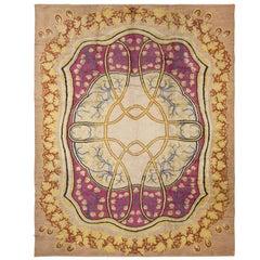 Antique Art Nouveau European Rug