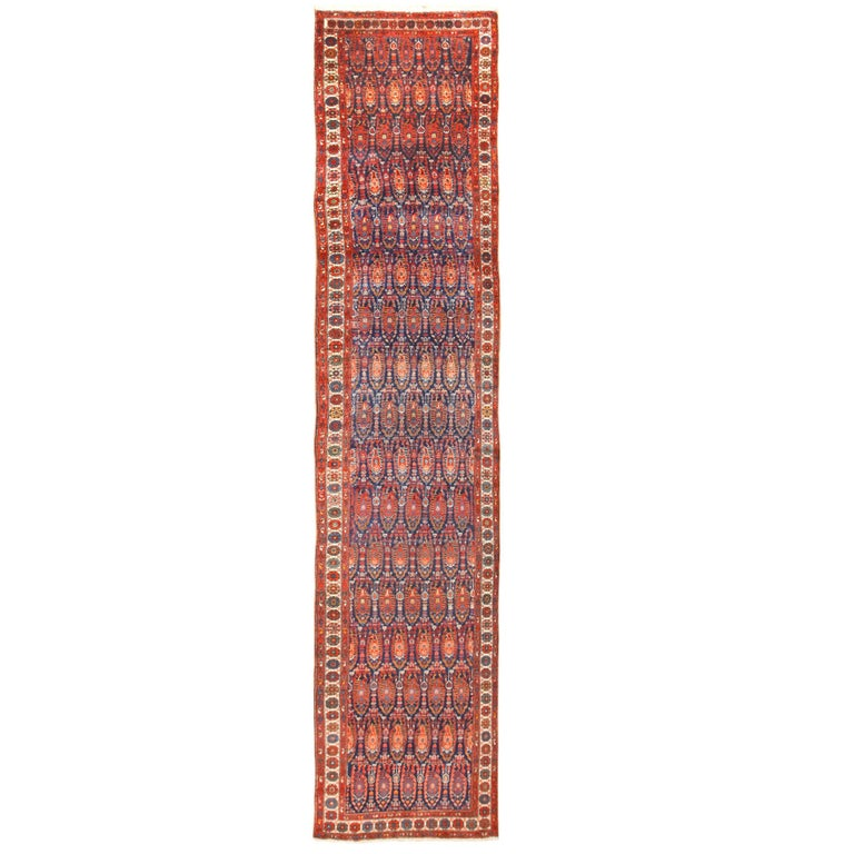 Antique Persian Malayer Hallway Runner Rug