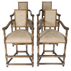 Paul Ferrante Walnut Chairs