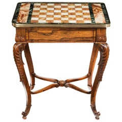 Attractive Regency Rosewood Chess Table