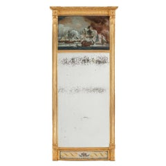 Rare Early 19th Century Commemorative Pier Mirror
