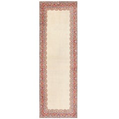 Ivory Gallery Size Vintage Persian Mahal Carpet