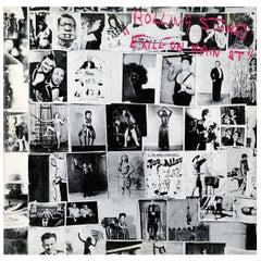 Original Rolling Stones, Exile on Main Street Vinyl Record 'Robert Frank'