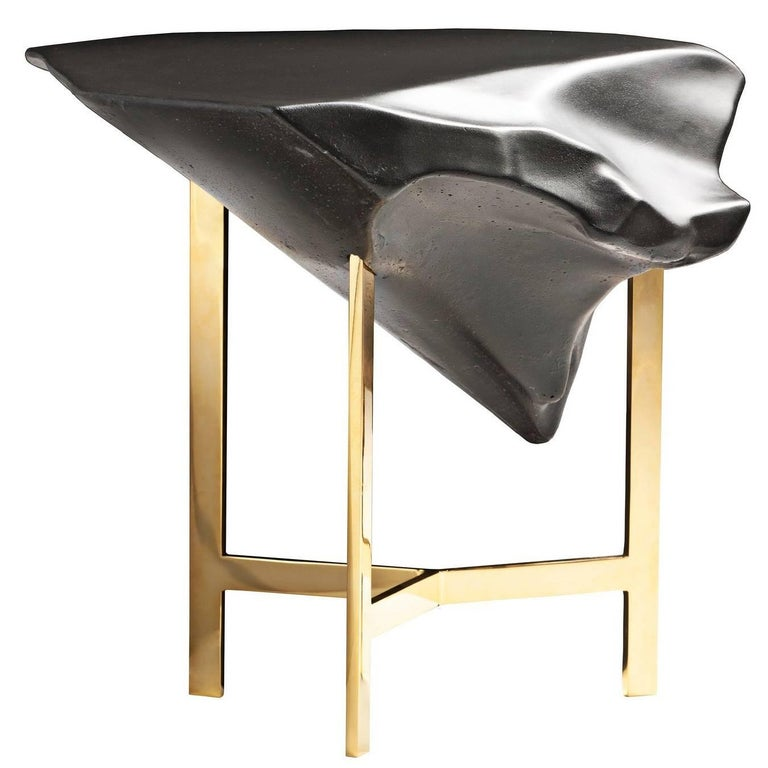 """Basalt"" Glossy Concrete Top Coffee Table by Fredrikson Stallard for Driade"