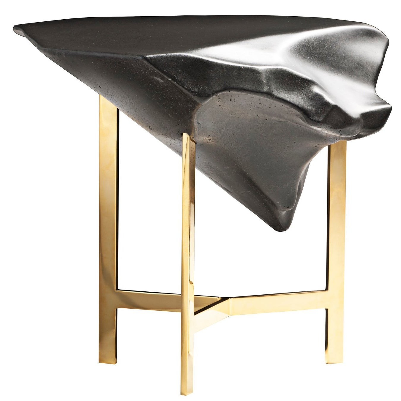 """Basalt"" Glossy Concrete Top Coffee Table by Fredrikson Stallard for Driade"