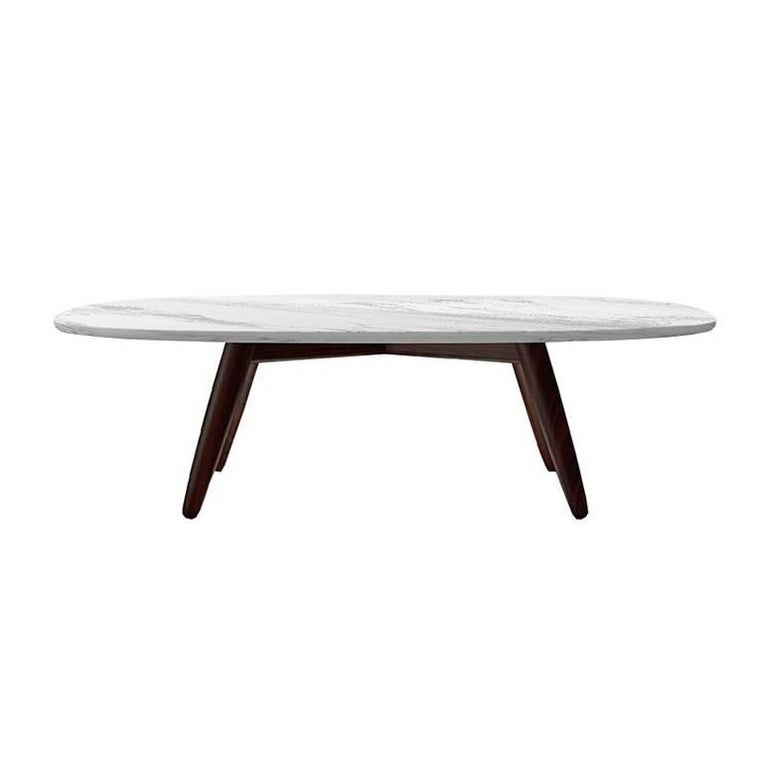 Ci Carrara Marble And Solid Wood Coffee Table By Naoto Fukasawa For Driade For Sale At 1stdibs