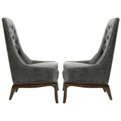 Modern Era T.H. Robsjohn-Gibbings Style Lounge Chairs