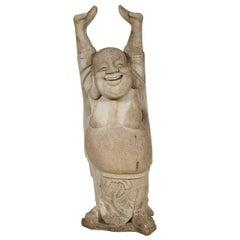 Vintage Cement Happy Buddha
