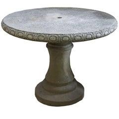 Mid-Century Cast Stone Table