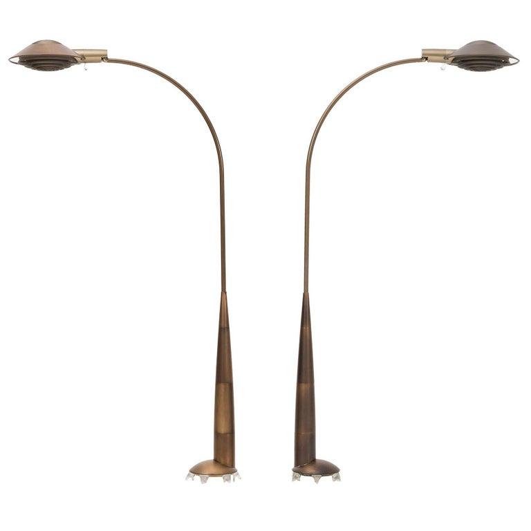 """Pair of Cedric Hartman """"Omaha"""" Floor Lamps"""