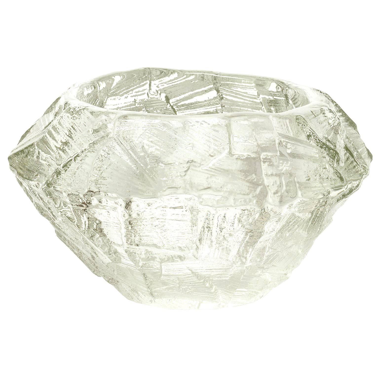Gore Augustsson for Ruda, Scandinavian Modern Mid-Century Clear Glass Bowl