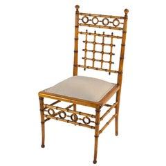Faux Bamboo Side Chair, circa 1880