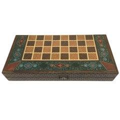 Persian Backgammon and Chess Game Box
