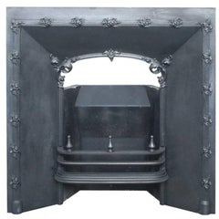 Decorative Early 19th Century Cast Iron Fireplace Grate
