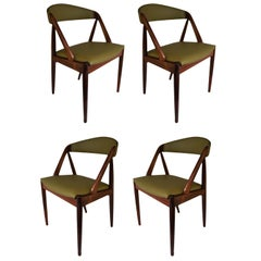 Kai Kristiansen, rosewood, model 31 dining chairs, set of ten. Fully restored.