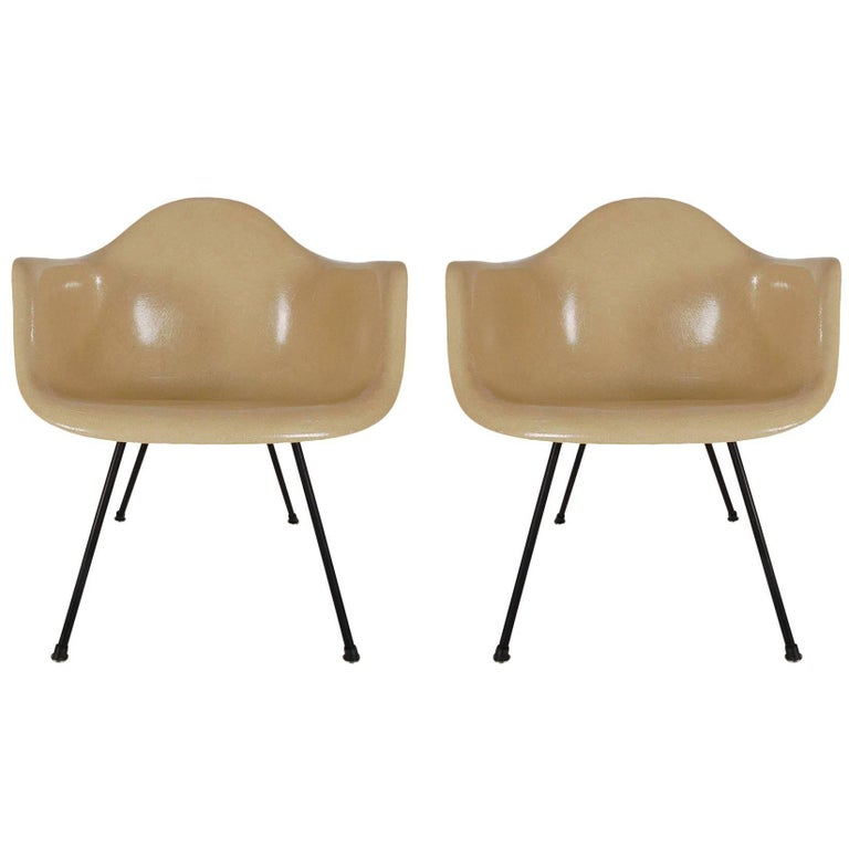Early Second Generation Charles Eames for Herman Miller Zenith Lounge Chairs
