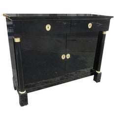 High Gloss Polished Sideboard from the Biedermeier Period