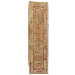 Early 19th Century Beige, Rust Turkish Khotan Rug