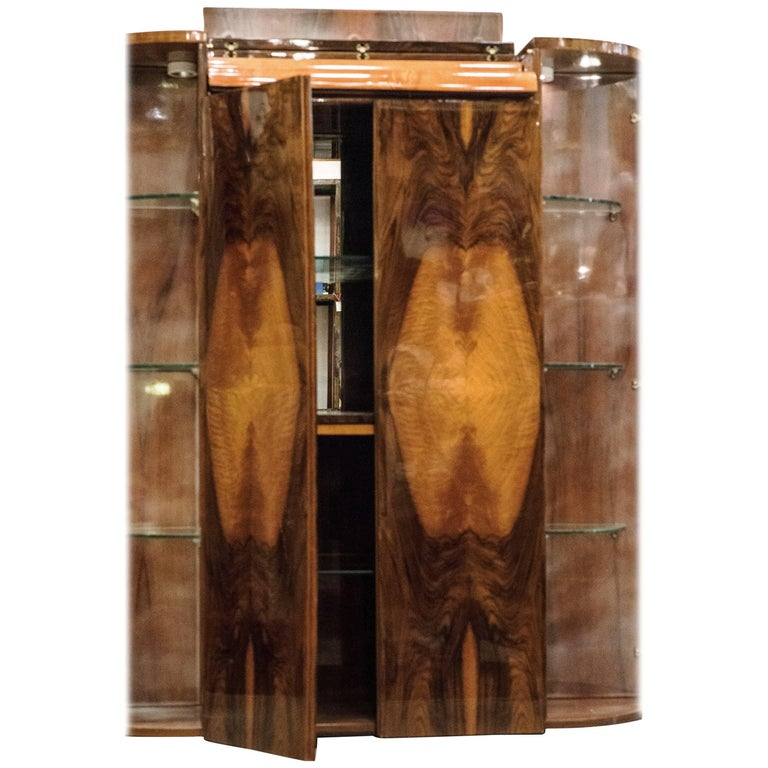 20th Century Art Deco Style French Bar Cabinet For Sale