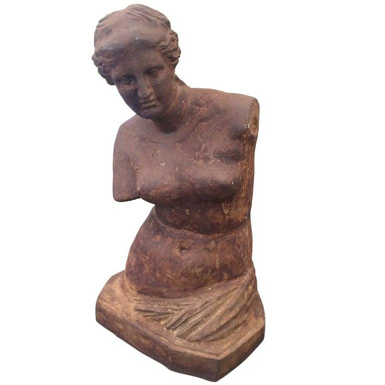 Monumental Cast Iron Bust of Venus de Milo For Sale