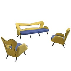 Italian Pop Culture Style Living Room Set, 1970s