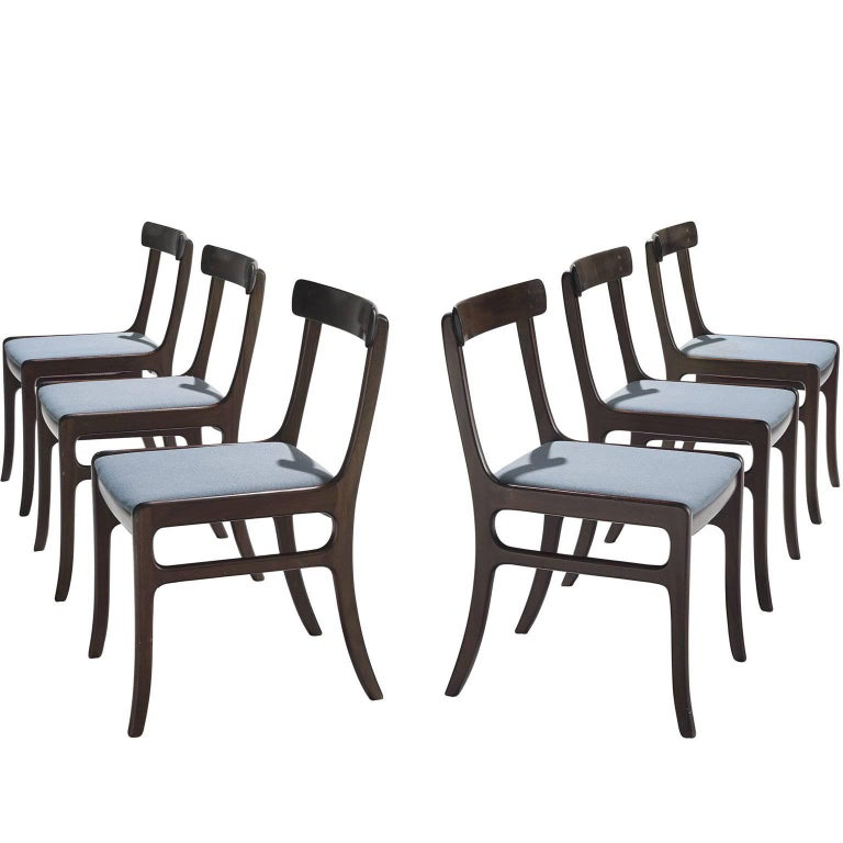 Ole Wanscher Mahogany 'Rungstedlund' Dining Chairs