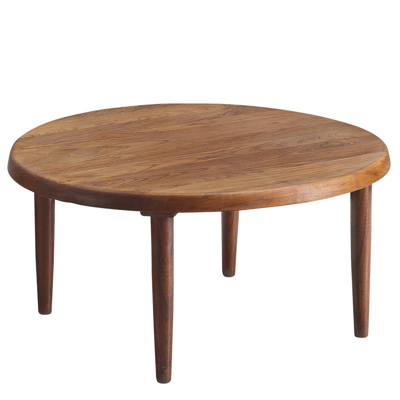 Danish Side Table in Solid Teak, 1950s