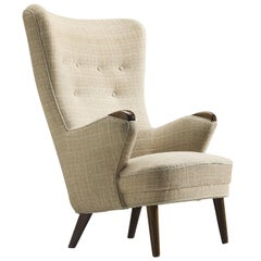 Danish Classic Wingback Chair, 1950s