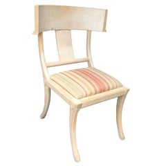 Klismos Bleached Oak Chair in the Style of T.H. Robsjohn-Gibbings, circa 1960s