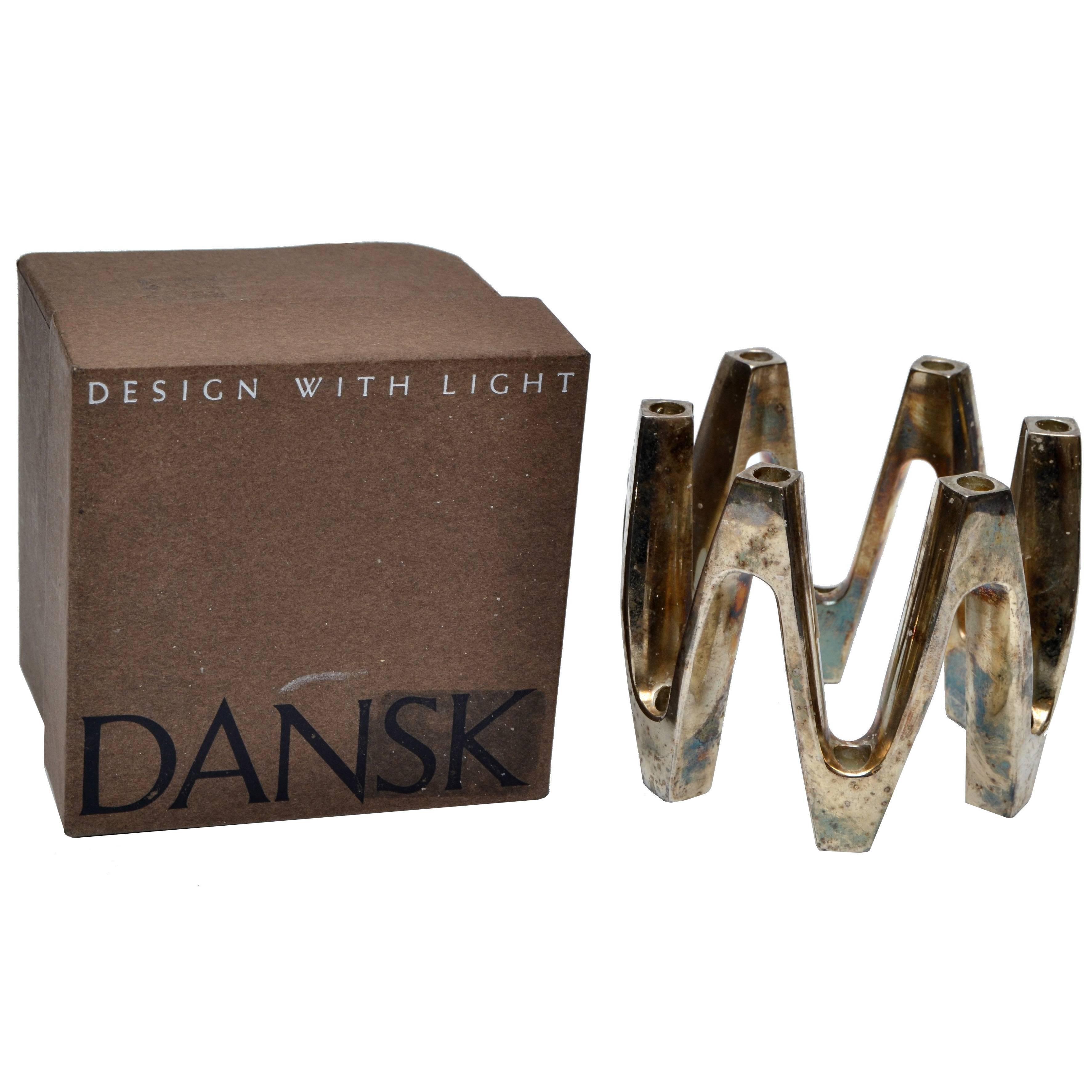 Jens Quistgaard Silver Plate Crown Candle Centerpiece by Dansk