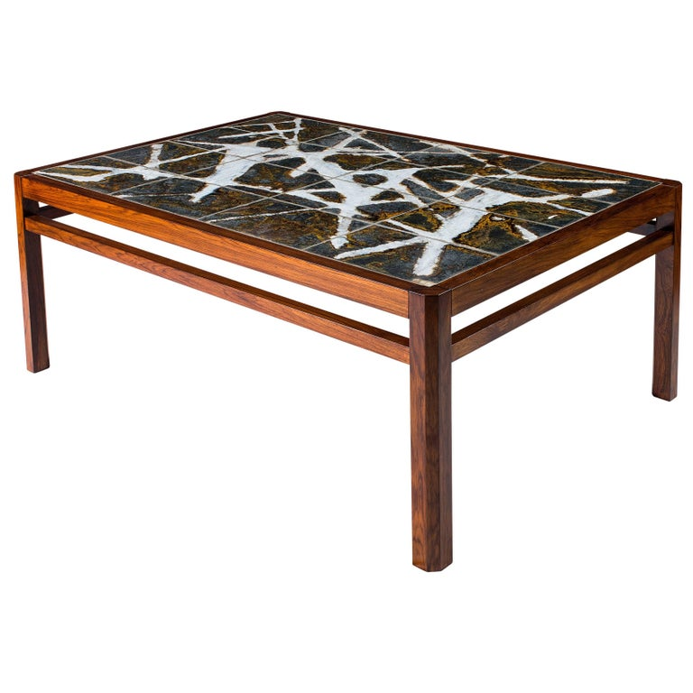 Danish Abstract Tile Coffee Table