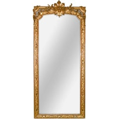 19th Century Palatial French Louis XV Hall Mirror