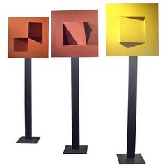 Gerald DiGiusto Meta-Square TOTEM Tryptic, 1970