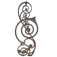 Cast Iron Stair Balustrade from the Kansas City Board of Trade