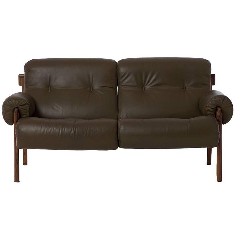 1970s Modern Home Architecture: 1970s Modern Brazilian Leather Settee At 1stdibs