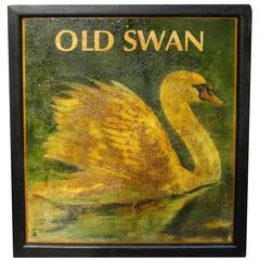 "English Pub Sign ""Old Swan"""