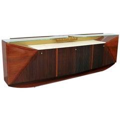 Mid-Century Modern Italian Rosewood Sideboard by Vittorio Dassi, 1950s