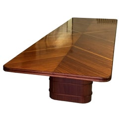 Mid-Century Modern Italian Mahogany Conference or Dining Table, 1950s