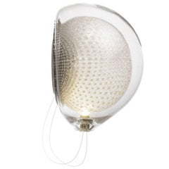 Bocci 76s LED Wall Sconce or Ceiling Fixture in Blown Glass and Copper Mesh