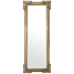Scuadro Mirror with Antique Brass Finish Rectangular Frame