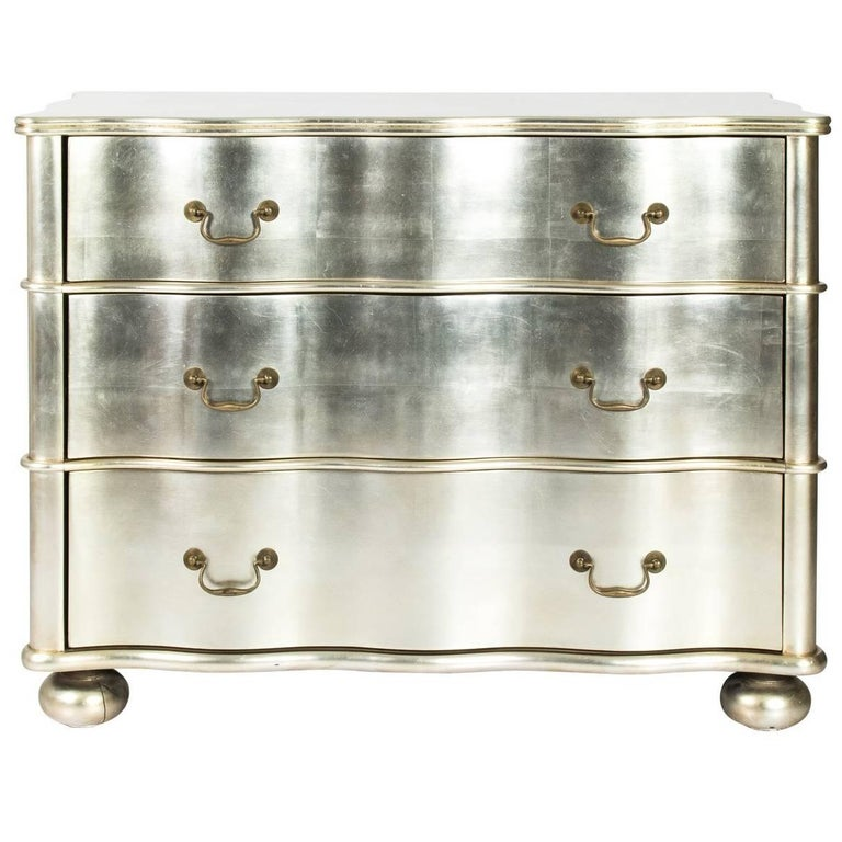Silver Chest Of Drawers ~ Silver leaf chest of drawers for sale at stdibs