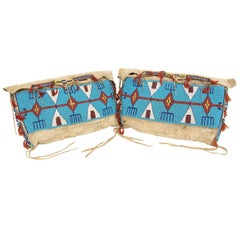 Antique Beaded Possible Bags 'Tepee Bags', Plains Indian, 19th Century
