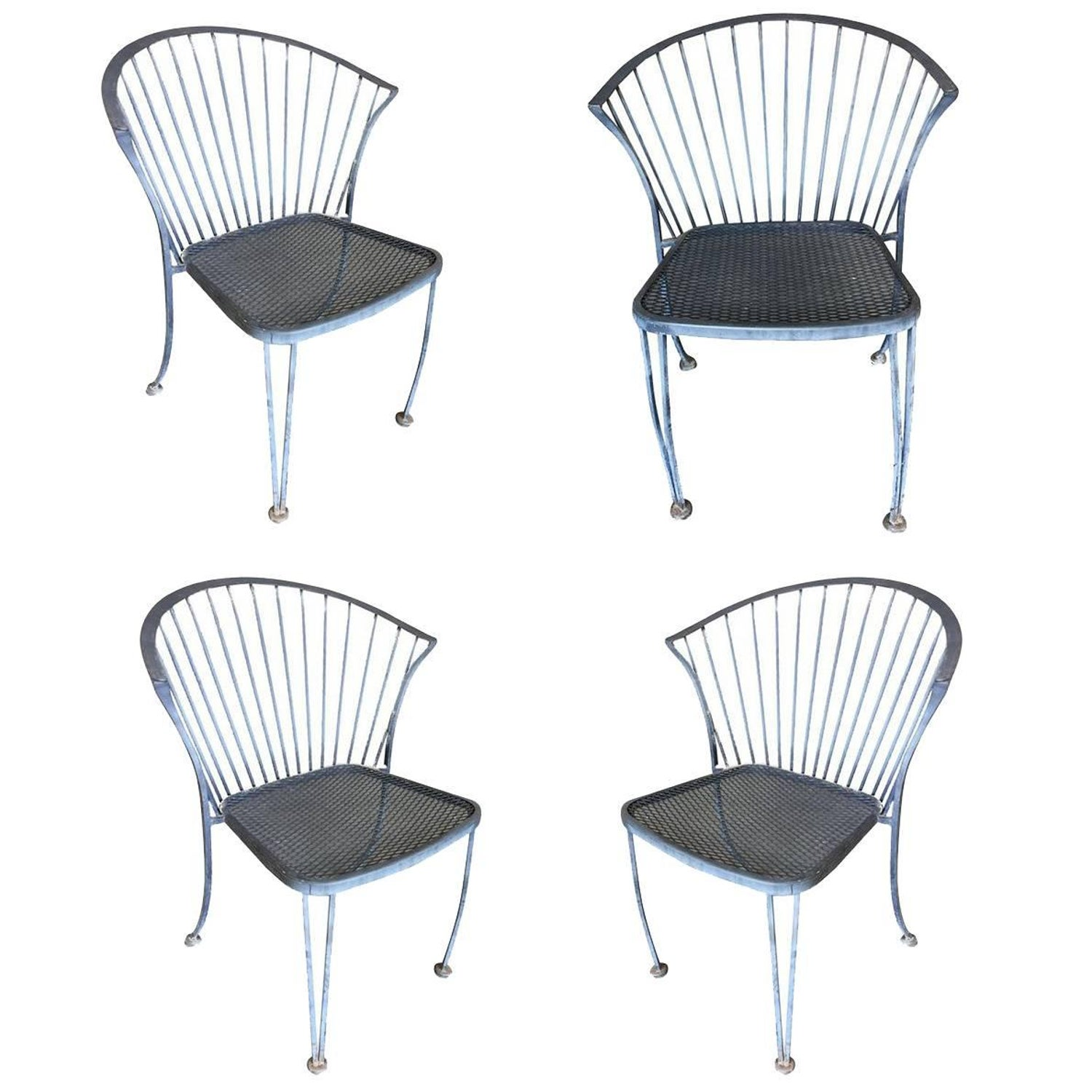 Woodard Pinecrest Iron Patio Outdoor Lounge Chair Set Of Four At 1stdibs